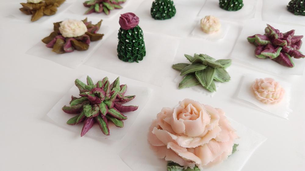 succulent, succulentcakes, cactus, buttercream